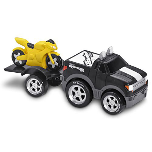 Фото - Машинка Kid Galaxy Трейлер с прицепом и мотоциклом Ford F150