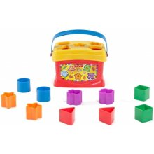 Ведро сортер с геометрические фигурами Brilliant Basics Babys First Blocks