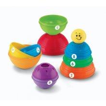 Фото - Развивающая игрушка Fisher-Price Обучающая пирамидка Brilliant Basics Stack & Roll Cups