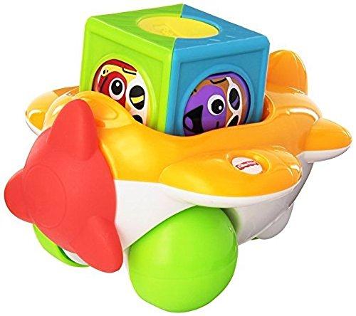 Фото - Развивающая игрушка Fisher-Price Самолет и Роликовый блок Roller Blocks Airplane