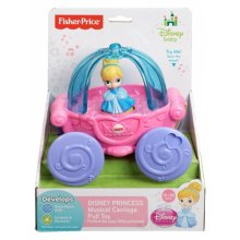 Фото - Развивающая игрушка Fisher-Price Disney Baby Cinderella Musical Carriage Pull Toy