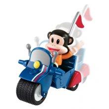 Фото - Развивающая игрушка Fisher-Price Фигурка Джулиуса на мотоцикле Julius Jr. Pullback Racer - Julius Invento-Cycle