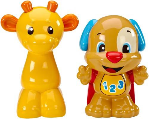 Фото - Развивающая игрушка Fisher-Price Погремушки щенок и жирафа в наборе Смеяться и учиться