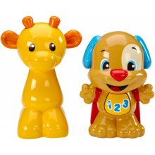 Погремушки щенок и жирафа в наборе Смеяться и учиться