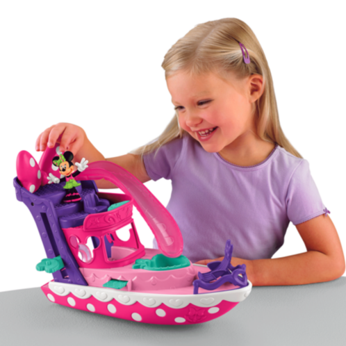Фото - Фигурка Fisher-Price Disneys Minnie Polka dot yacht