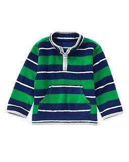 Фото - Crazy 8 Флисовый полосатый пуловер для мальчика