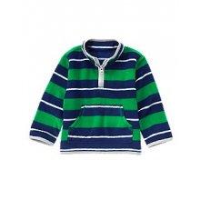 Флисовый полосатый пуловер для мальчика