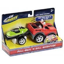Фото - Машинка Kid Galaxy Трейлер с прицепом и скутером Pull Back Ford F150 with Trailer and Jet Ski