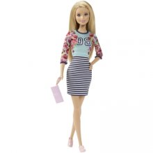 Кукла Барби Fashionistas Doll Floral Top and Striped Skirt - Original