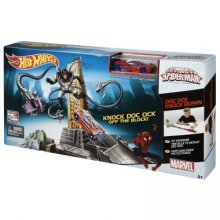 Фото - Автомобильный трек Hot Wheels Трек Marvel the amazing spider-man doc Ock Knockdown