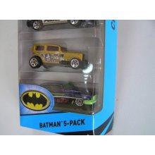 Фото - Машинка Hot Wheels 5 Car Gift Pack Batmen