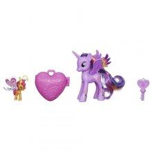 Пони - принцесса Твайлайт Спаркл и Сансет Бризи с амулетом My Little Pony Twilight Sparkle and Sunset Breezie Figures