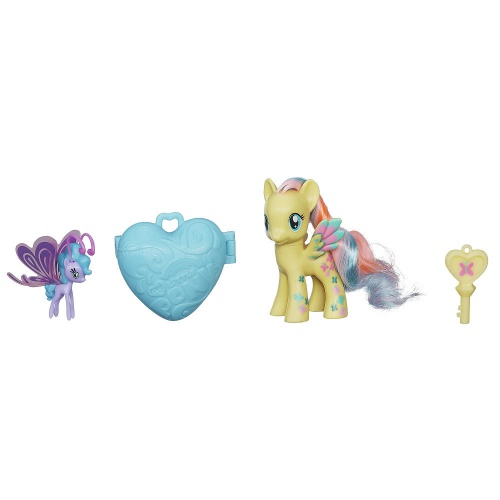 Фото - Фигурка Hasbro Пони Флаттершай и Си Бризи с амулетом My Little Pony Fluttershy and Sea Breezie Figures