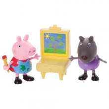 Пеппа, Дэнни и мольберт  Peppa Pig Peppa & Danny Dog Painting Action Figure
