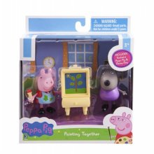 Фото - Фигурка Peppa Pig Пеппа, Дэнни и мольберт  Peppa Pig Peppa & Danny Dog Painting Action Figure