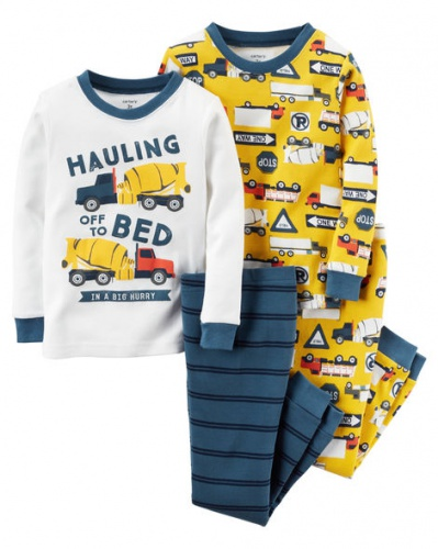 Фото - Carter's Пижама для мальчика, с принтом Бетономешалка