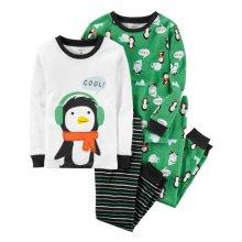 Пижама для мальчика, с принтом Пингвин