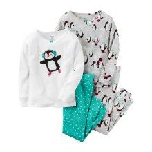 Пижама для девочки, с принтом Пингвин