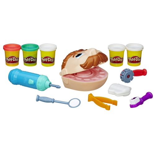 Фото - Игровой набор Hasbro для лепки Стоматолог мр. Зубастик Play-Doh Doctor Drilln Fill Retro Pack