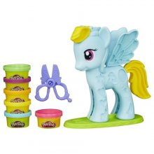 Набор для лепки пони Play-Doh My Little Pony Rainbow Dash Style Salon Playset
