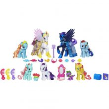 Набор из 7 фигурок пони My Little Pony Friendship is Magic Midnight in Canterlot Pony Collection Doll Set