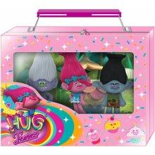Герои Поппи, Бренч и Даймонд из мультфильма Тролли DreamWorks Trolls Collectible 3D Figural Eraser Case