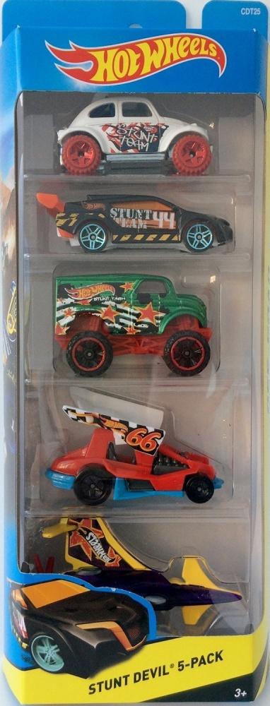 Фото - Машинка Hot Wheels 5 моделек Stunt Devil, набор