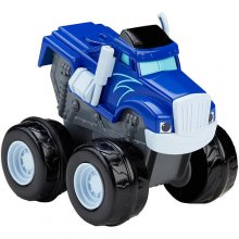 Фото - Машинка Fisher-Price Крушила с инерционным механизмом Blaze (s&g) and the monster machines slam and go Crusher - blue