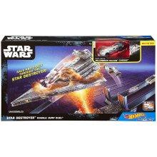 Фото - Автомобильный трек Hot Wheels Star Wars Carships Double Jump Star Destroyer Battle Playset