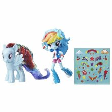 Мини-кукла Радуга и пони My Little Pony Elements of Friendship Rainbow Dash Pony and Doll Set